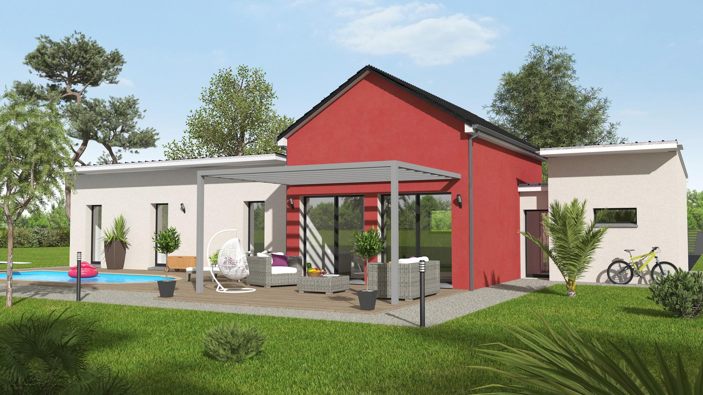 Modèle maison plain-pied