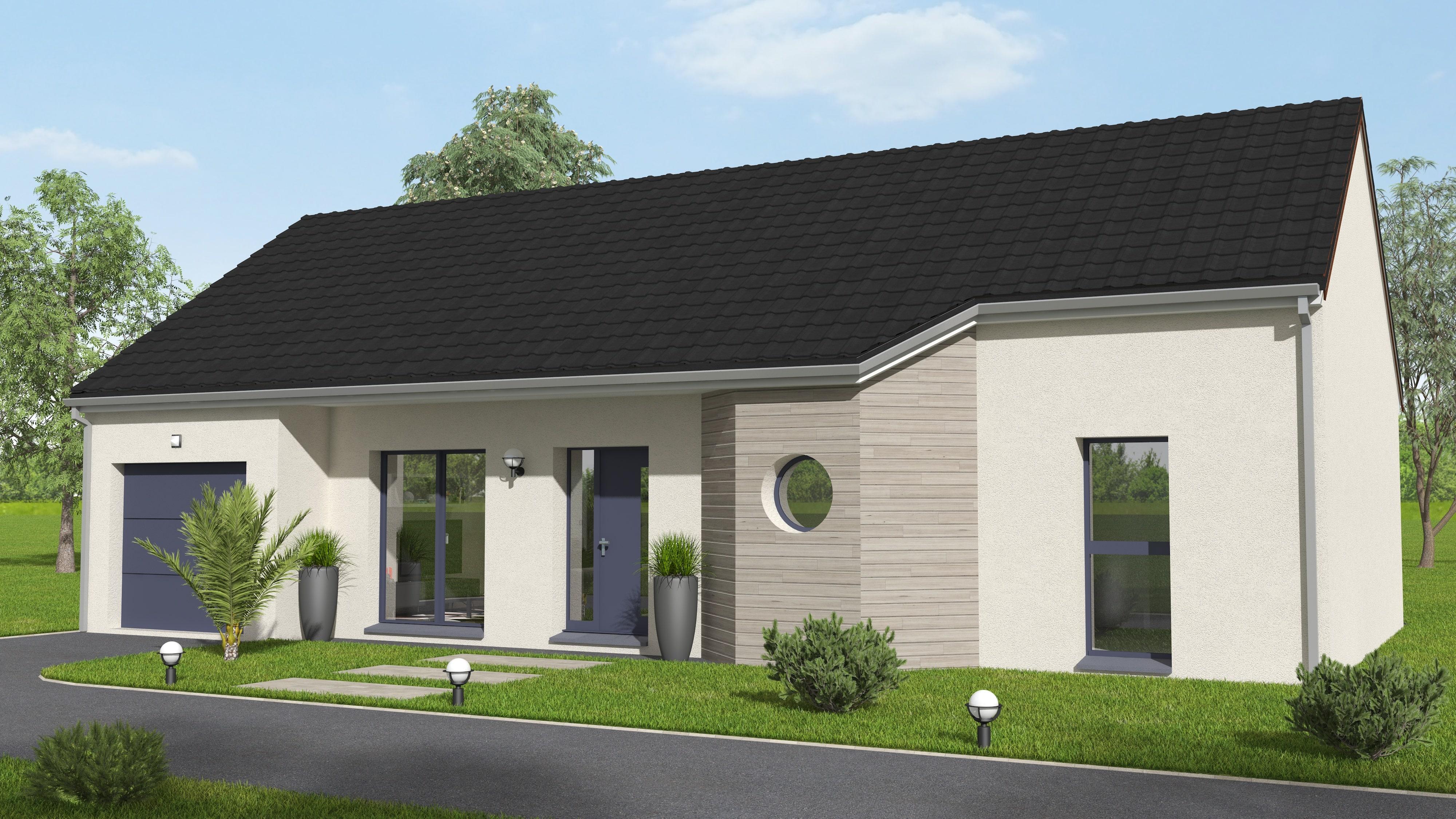 Modèle maison plain-pied Corrèze