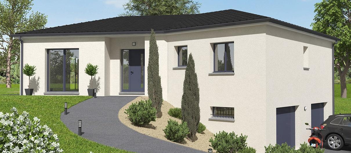 Maison sur sous-sol avec garage